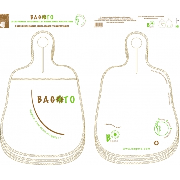 The 3-pack Bagoto in natural bamboo fiber