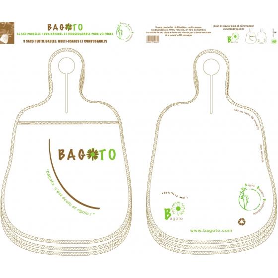 Le bagoto 100% naturel - paquet de 3