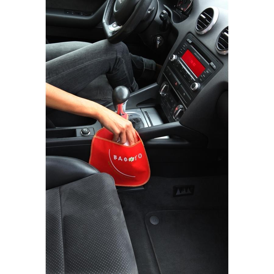 Idée Cadeau Voiture Poubelle de voiture : accessoire voiture écolo   Lot de 10 Bagoto noir